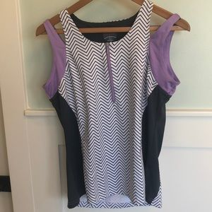 Bolle dark grey and lilac tennis outfit